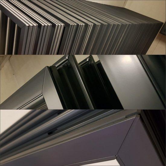 Powder coated aluminium window frames